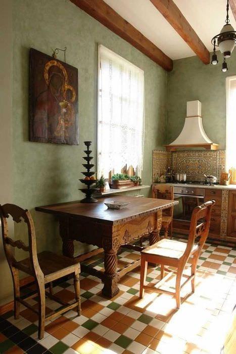 вариант современного дизайна спальни в деревенском стиле