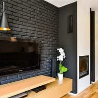 идея яркого декоративного камня в интерьере квартиры картинка