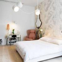 вариант стильного декорирования интерьера спальни фото