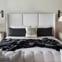 вариант стильного декорирования стиля спальни картинка