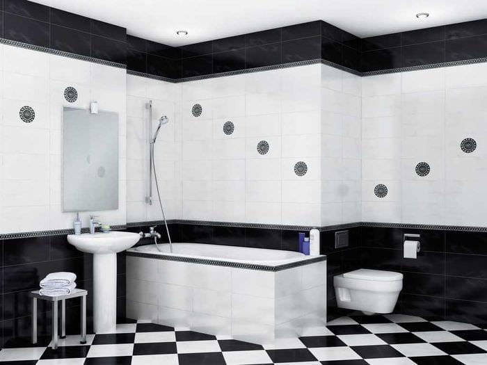 идея яркого стиля белой ванной комнаты