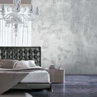 вариант оригинального дизайна комнаты с декоративной штукатуркой фото