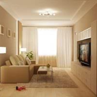 идея красивого дизайна гостиной комнаты 17 кв.метров картинка