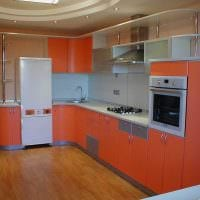 вариант красивого интерьера большой кухни фото