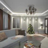 идея яркого стиля 2 комнатной квартиры фото