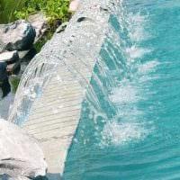 вариант оригинального декора маленького бассейна фото