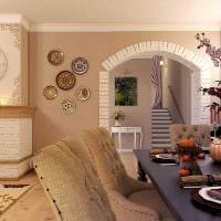 идея необычного интерьера кухни с аркой картинка