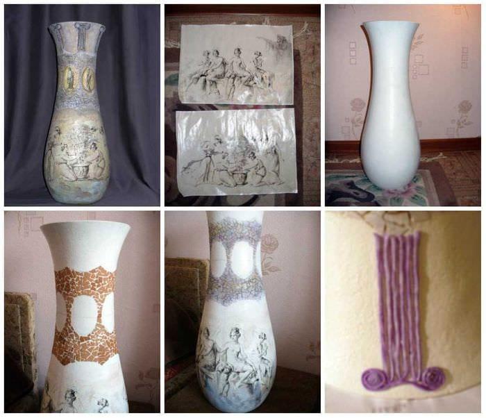идея красивого украшения настольной вазы