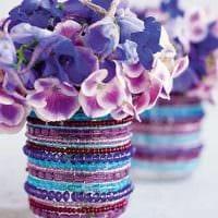 вариант оригинального оформления напольной вазы картинка