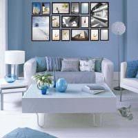идея красивого декорирования стен в гостиной фото