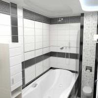вариант яркого стиля белой ванной картинка