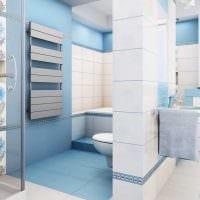 идея оригинального дизайна белой ванной комнаты фото