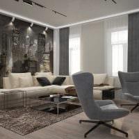 вариант оригинального интерьера квартиры 2017 года картинка