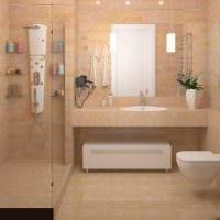 идея яркого стиля ванной комнаты фото