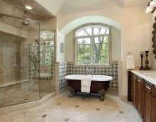 вариант необычного стиля ванной картинка
