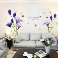 вариант красивого украшения интерьера гостиной фото