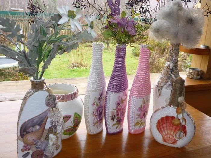 идея оригинального оформления вазы