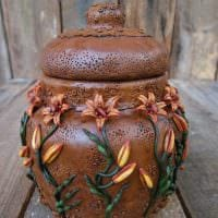 идея необычного украшения напольной вазы фото