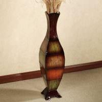 вариант оригинального декорирования вазы фото