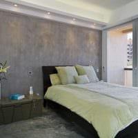 идея необычной декоративной штукатурки в дизайне спальни фото