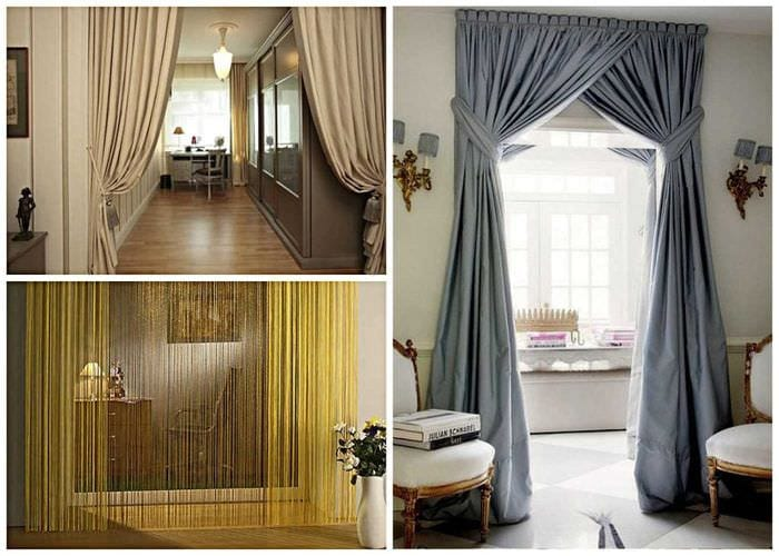 Entry door curtains