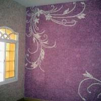 идея современного дизайна квартиры с декоративным рисунком на стене картинка