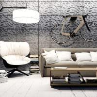 вариант оригинального декора квартиры с декоративным рисунком на стене фото
