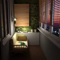 идея оригинального дизайна небольшого балкона фото