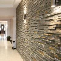 вариант красивого декоративного камня в дизайне комнаты картинка