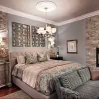 идея необычного декоративного камня в интерьере квартиры фото