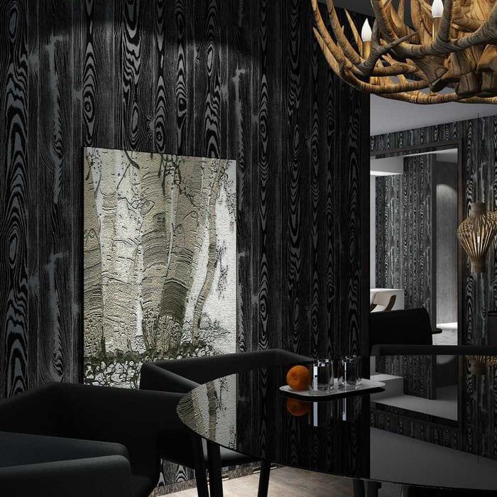 идея необычного дерева в дизайне комнаты