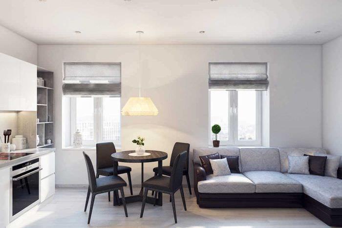 вариант яркого интерьера 2 комнатной квартиры