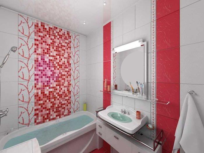 идея необычного интерьера белой ванной