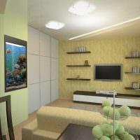 вариант красивого стиля гостиной комнаты 17 кв.метров фото