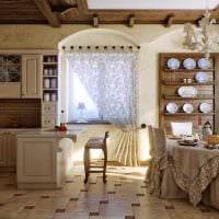 вариант оригинального дизайна комнаты в деревенском стиле фото