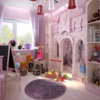 идея цветной дизайна комнаты для девочки фото