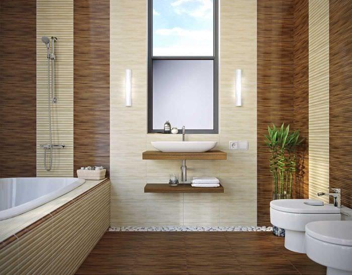 вариант оригинального интерьера ванной