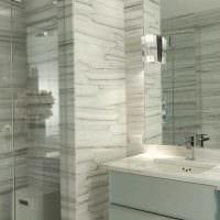 вариант яркого дизайна ванной комнаты фото