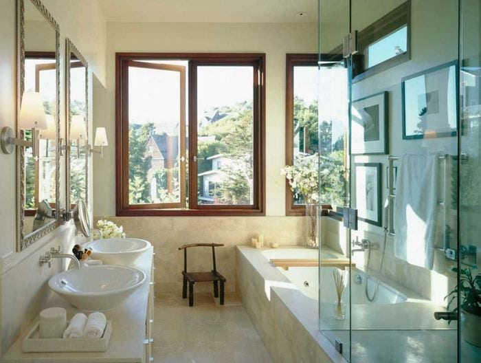 Дизайн ванны с окном в 5 кв.м.м