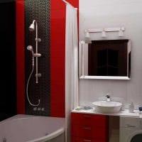 вариант необычного стиля белой ванной фото