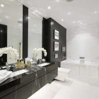 вариант красивого дизайна белой ванной фото