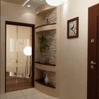 вариант цветной декора коридора фото