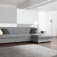 идея красивого декора гостиной с диваном картинка