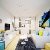 идея яркого стиля 2 комнатной квартиры фото пример