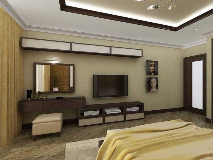 вариант красивого дизайна 2 комнатной квартиры
