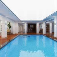 идея современного стиля маленького бассейна картинка