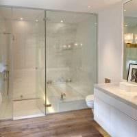 идея красивого стиля ванной в квартире картинка