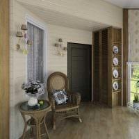 вариант красивого стиля веранды в доме картинка