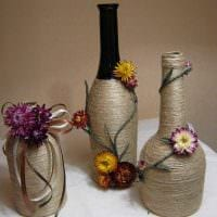 вариант яркого декорирования вазы фото
