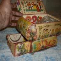 идея яркого декорирования шкатулки своими руками картинка